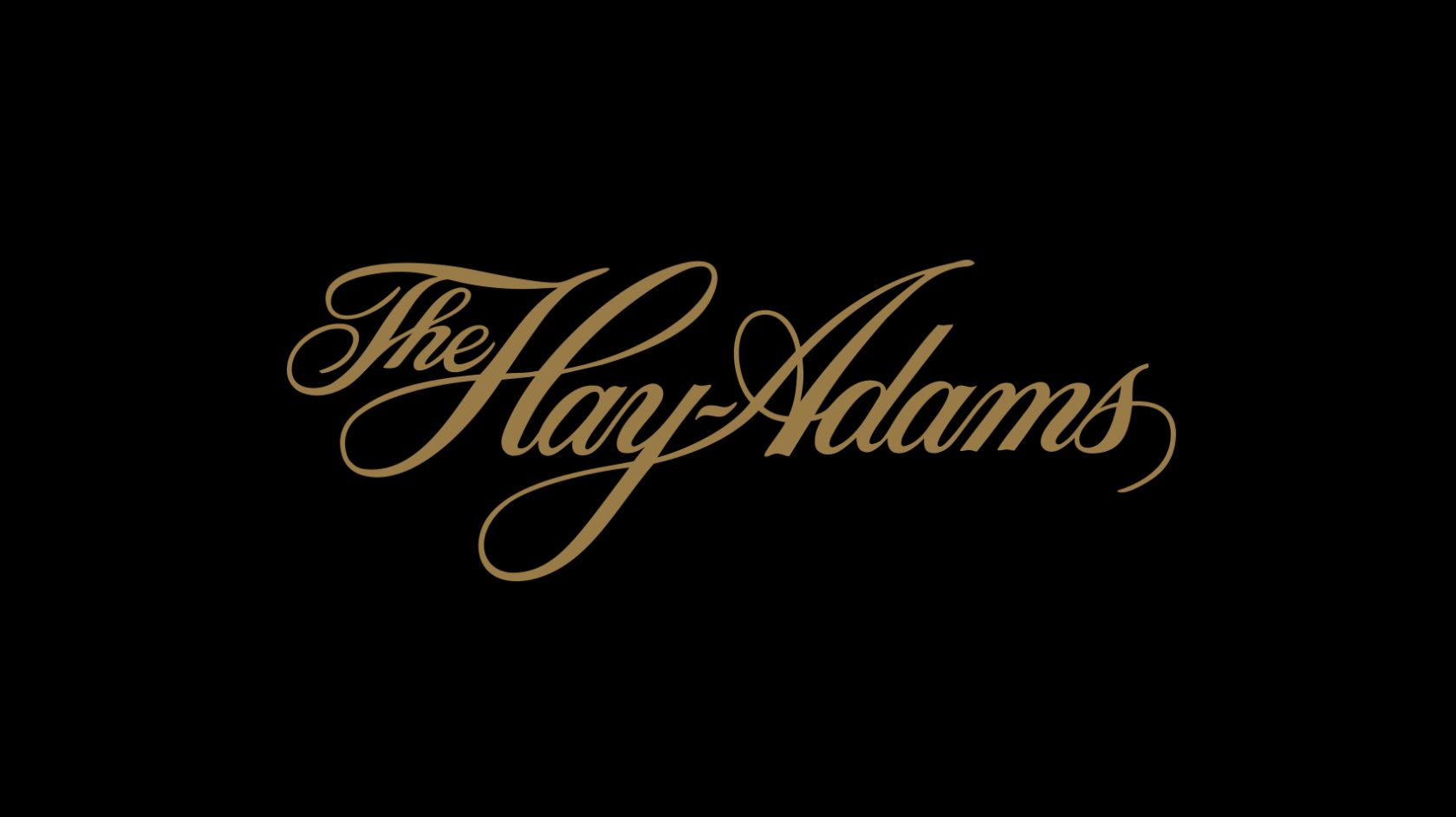 Hay-Adams gold logo on black background