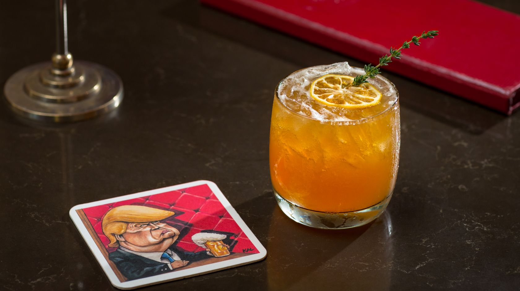 A Trumpy Sour cocktail at off the record